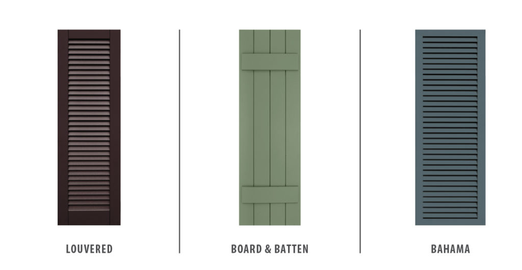 storm shutters - louvered shutters, board and batten shutters, bahama shutters