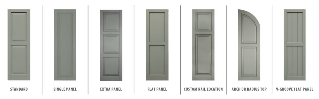 Classic styles of Panel Shutters in Bluffton, SC
